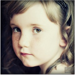 Mirren (Samantha Nicol Art Photography) Tags: portrait cute girl vintage square nikon curls freckles samantha f28 opop nicol