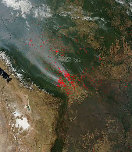 Fires in Bolivia and smoke drifting to Acre 03 Sept 2011