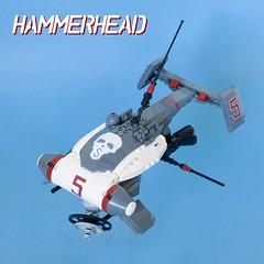 Hammerhead (ted @ndes) Tags: skull lego space system 3000 mak krieger moc mercenary starfighter maschinen safs mak3000