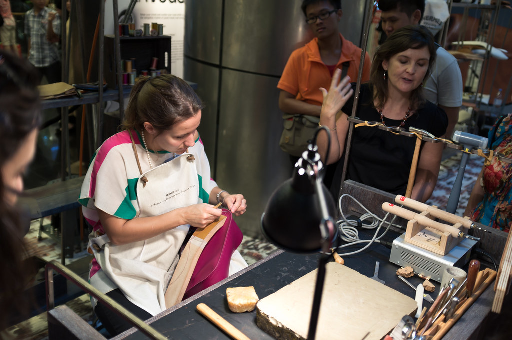 Leather craftswoman