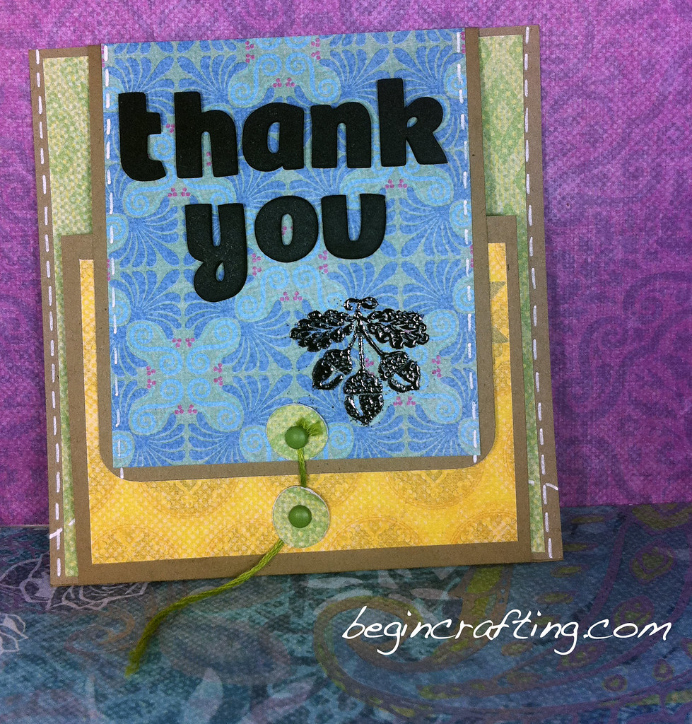 Two Fold Thank You Card with Envelope Closure
