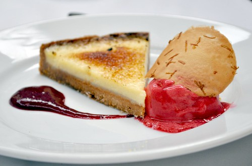 Lemon pie & raspberry sorbet