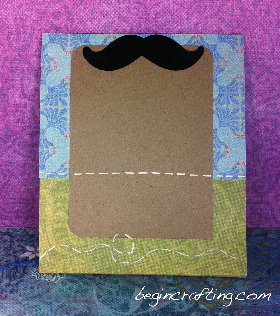 Thank You Mustache Card (inside)