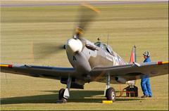 G-LFVB EP120 AE-A Vickers Supermarine Spitfire LF VB (PaulHP) Tags: museum war september airshow duxford imperial lf spitfire vb airfield vickers iwm aea supermarine 2011 ep120 glfvb