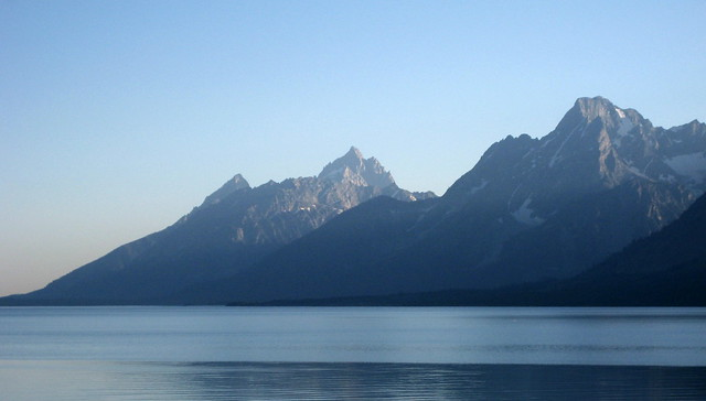 Tetons over Jackson Lake