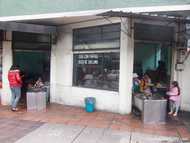 Cuy restaurants in Banos