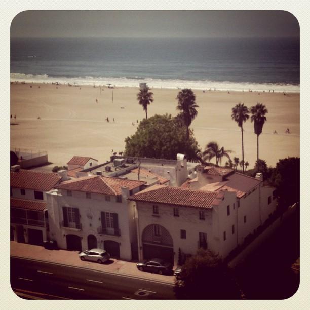 Spanish beach homes in Santa Monica. Yes please.