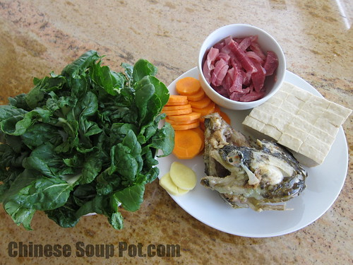 [photo-bok choy fish head tofu soup]