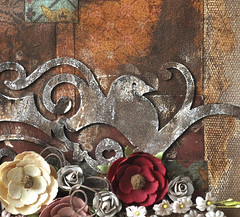 12x12 Mixed Media Canvas by Jamie Dougherty (TatteredAngels) Tags: prima decadence chalkbaord glimmermist