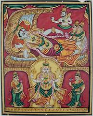 Vishnu on Ananta (thesandiegomuseumofartcollection) Tags: india vishnu karnataka mysore binney sandiegomuseumofart