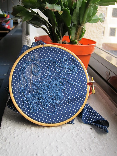 indigo embroidery progress