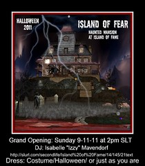 Grand Opening Party This Sunday 9-11-11 at 2pm SLT (Kara Trapdoor) Tags: party halloween pose fun costume scary secondlife virtual hauntedhouse loweruno islandoffame karatrapdoor sonicityfitzroy islandoffear secondlifehauntedhouse hauntedmansioninsecondlife
