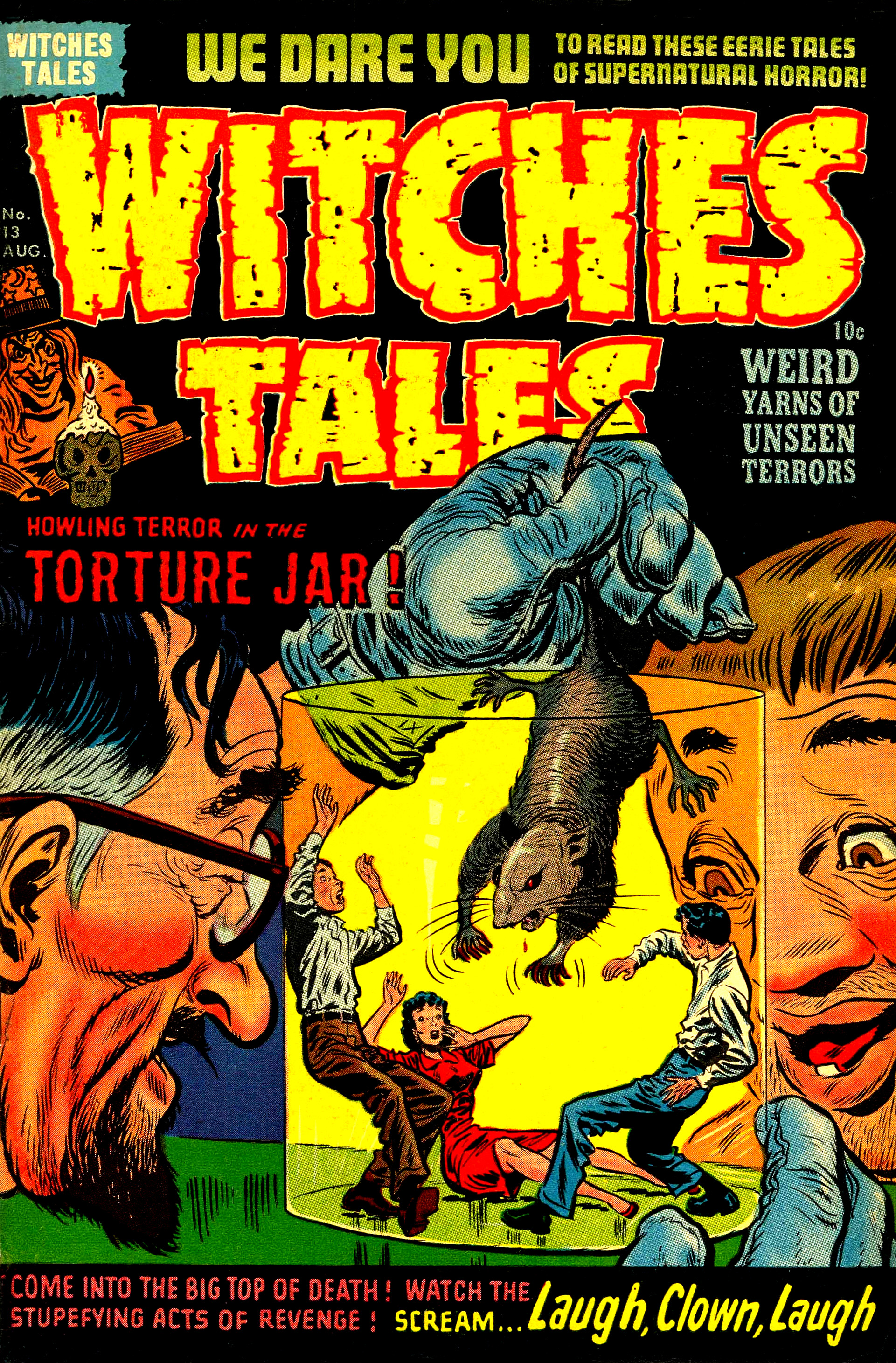 Witches Tales #13, Lee Elias Cover (Harvey, 1952)