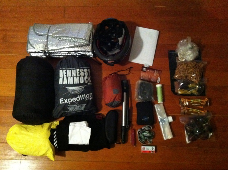 Fast and Light Bicycle Overnight Gear