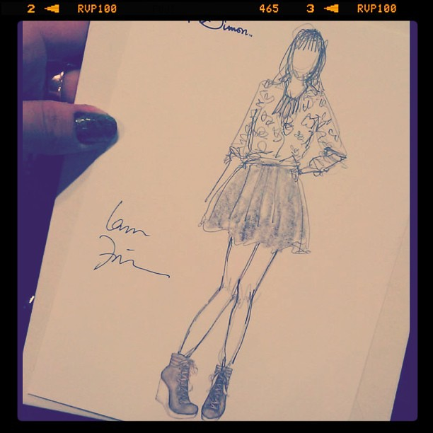Incredibly cute sketch of my #luckyFABB outfit by @closetsketches
