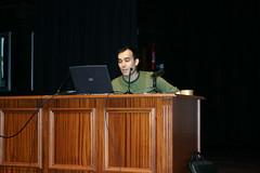 Sergio Diaz en la presentación de ONA en el cinema