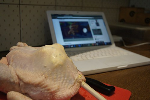 Roasted Chicken with lemon and shallot asparagus