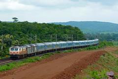 Bhopal Shatabdi Express (Ujjawal) Tags: india weather train cloudy indian rake gradient express curve incredible railways fastest newdelhi pradesh ghats lhb bhopal madhya wcr irfca gzb wap5 shatabdi bhadbhada fz35