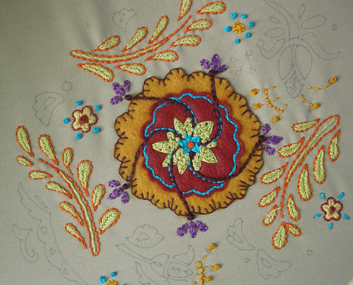 embroidery, progress