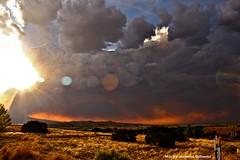 (monica jeannine) Tags: newmexico fire smoke picnik digitalphotography canonrebelxti