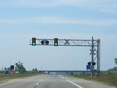 Traffic lights at railroad crossing (Sean_Marshall) Tags: railroad trafficlight us crossing traffic michigan railway crossbuck signal us127