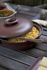 Mac n' Cheese (Didriks) Tags: ceramics bowl covered heath serving macaroni