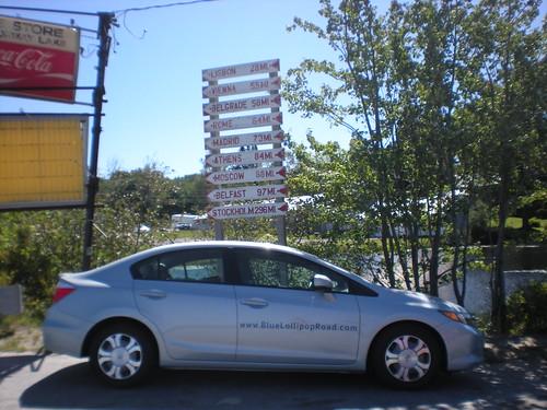 Diane's loaned Honda Civic in Norway Maine