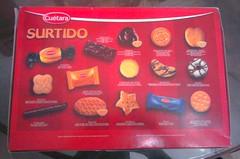 leyenda descripción caja de galletas surtidas surtido cuetara