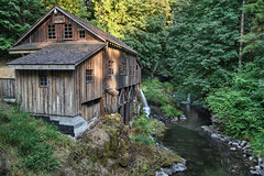 Cedar Creek Grist Mill in Washington State - HDR (David Gn Photography) Tags: longexposure travel trees nature water forest landscape wooden moss rocks view scenic historic grains washingtonstate hdr oldbuilding cedarcreek gristmill lewisriver 3xp nd8filter canoneos7d sigma2470mmf28ifexdghsm sigma50th