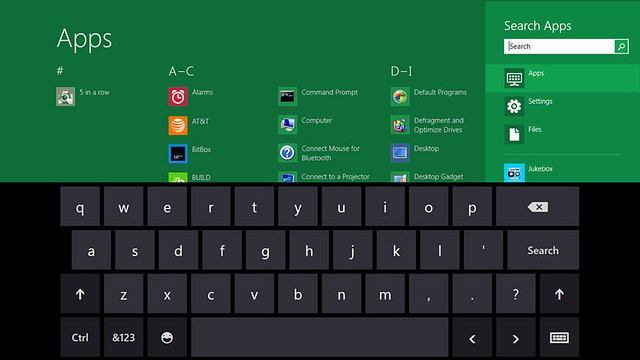 App Screen Showacasing Keyboard