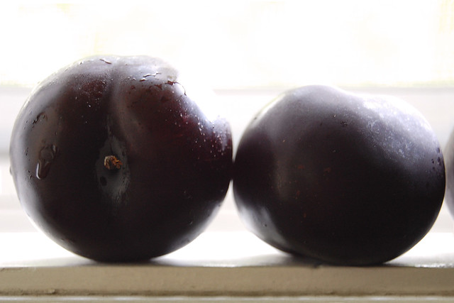 plums on a window sill {two}