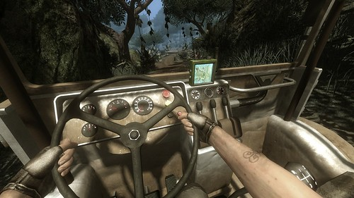 Driving my vehicle in the jungle
