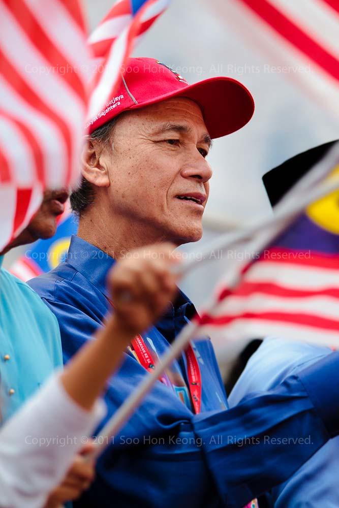 Tan Sri Lee Lam Thye @ Malaysia Day Celebration, Dataran Merdeka, KL, Malaysia