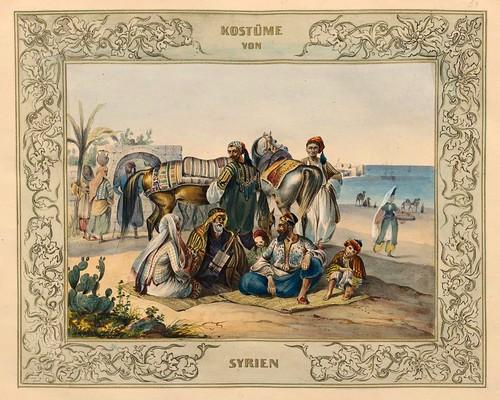 025-Vestimentas de Siria-Malerische Ansichten aus dem Orient-1839-1840- Heinrich von Mayr-© Bayerische Staatsbibliothek