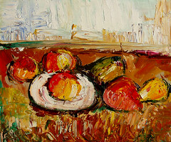 """Knife painting (inspired by Cezanne's """"Still Life,"""" 1883-88) • <a style=""""font-size:0.8em;"""" href=""""https://www.flickr.com/photos/78624443@N00/6153471444/"""" target=""""_blank"""">View on Flickr</a>"""