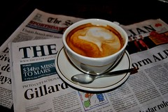 coffee at cibo (Ian Riley) Tags: street morning black coffee ian milk long sydney australian australia dash adelaide sa southaustralia cibo herald gouger mewspapers