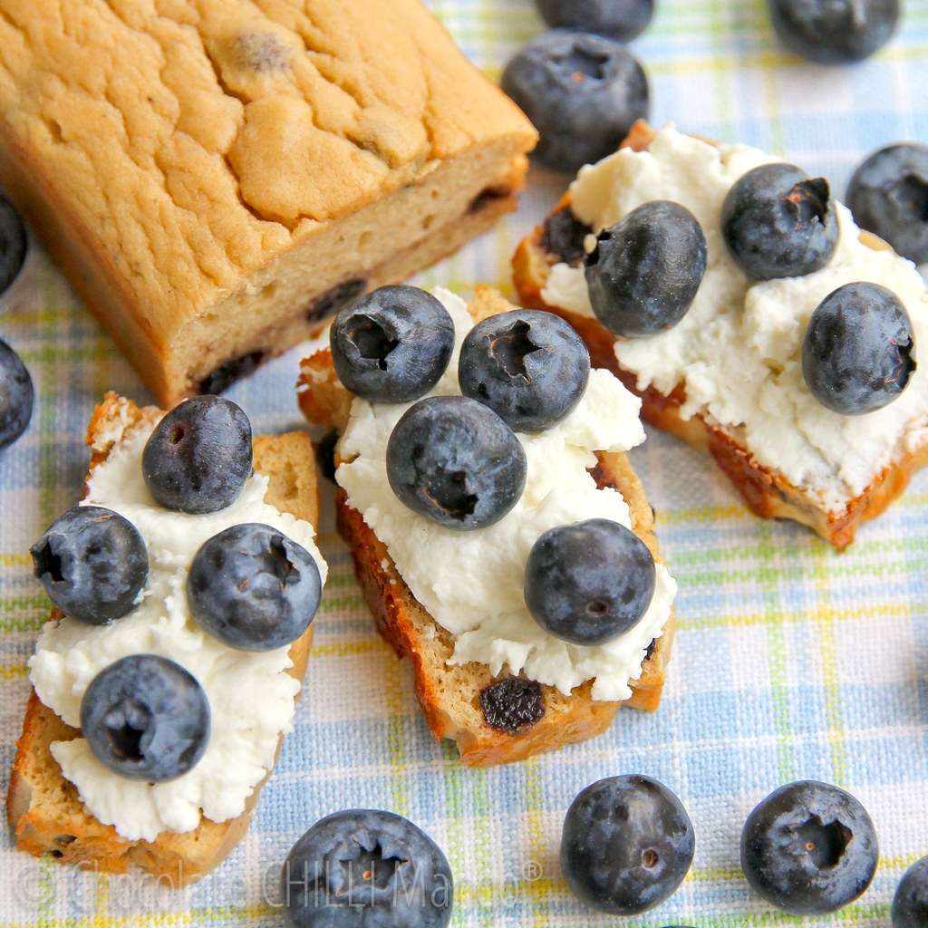Blueberry Lemon Protein Loaves