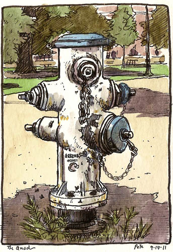 UCD hydrant at the quad