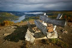 Subarctic Bench (hapulcu) Tags: autumn canada bench yukon dawsoncity yt midnightdome