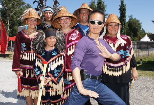 Actor/Grandmaster Stephen Chang & Musqueam First Nations, The Richmond Maritime Festival 2011 at the Britannia Heritage Shipyard in Steveston, BC