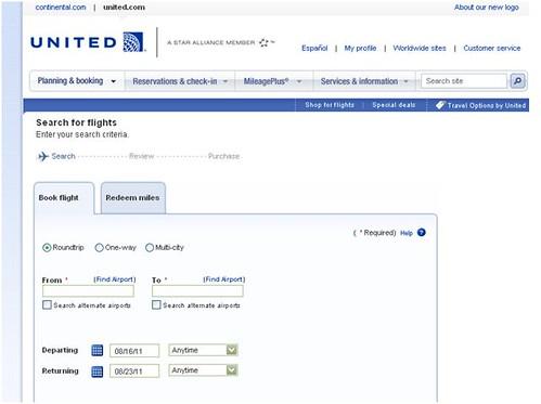 United airlines screen shot 1