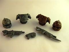 Category 2 (Futuristic) Prizes by BrickWarriors (MandaBW) Tags: lego armor weapons helmets gow brickwarriors contestsponsorship