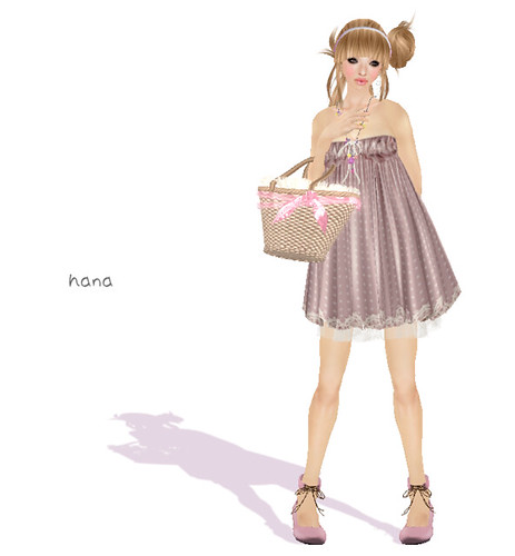 = Hal*Hina = dot mini one-piece [grayish pink]