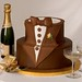 Wedding Cakes - Premium - Grooms Cake-The Tuxdedo