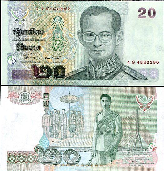 20 Baht Thajsko 2002-9, Pick 109