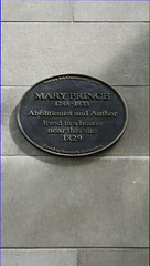 Photo of Mary Prince bronze plaque