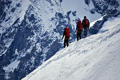(ThibaultPoriel) Tags: france du midi chamonix mont blanc aiguille alpiniste