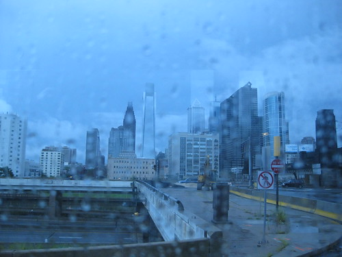 Rainy Philly from the Bolt Bus