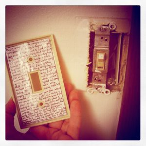 I made a light switch time capsule