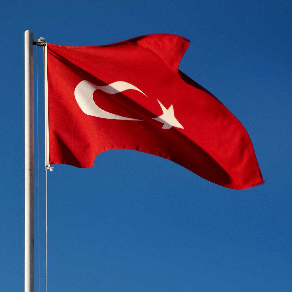 Turkey - Side - Sunrise Resort - Turkish Flag 02 sq